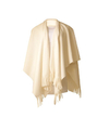 Luxe dames omslag poncho wit